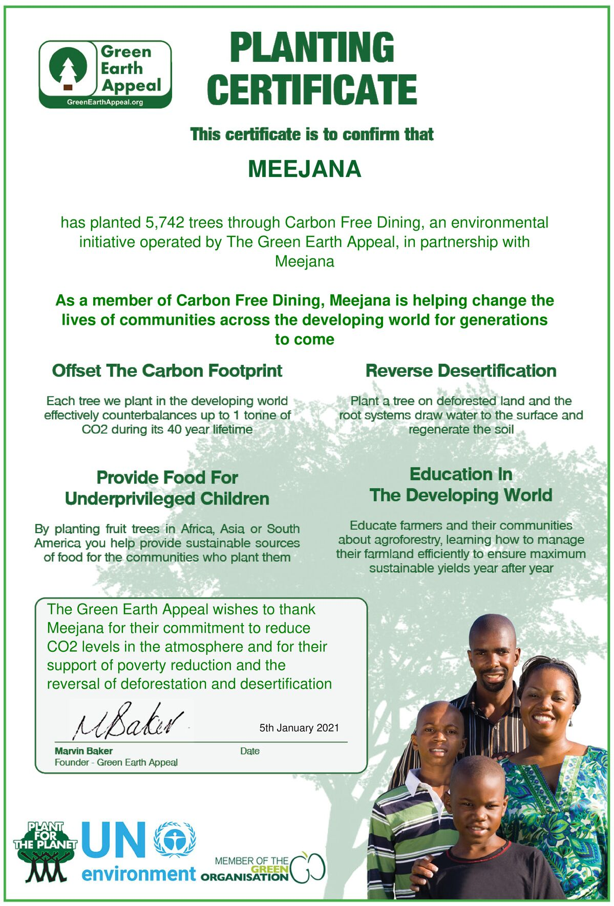 Meejana Carbon Free Dining